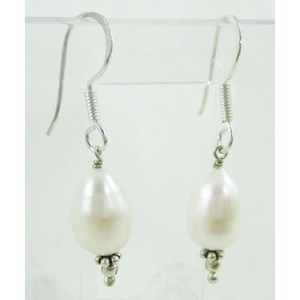Cultured Pearl Silver Earrings