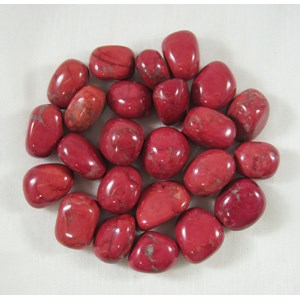 Red Howlite Tumble Stones (x3) Smallish