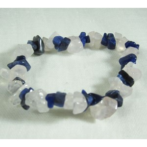 Sodalite and Rose Quartz Chip bracelet (m)