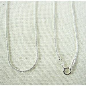 "18"" Solid Silver Snake Chain"