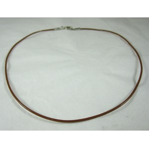 Brown Leather Necklace Cord (with catch)