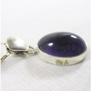 Amethyst Oval Pendant (small)