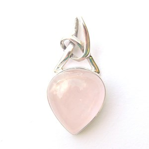 Rose Quartz Knot Pendant