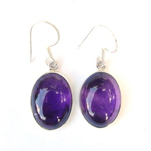 Amethyst Large cabochon Earrings