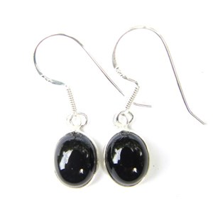 Black Onyx Dainty Earrings