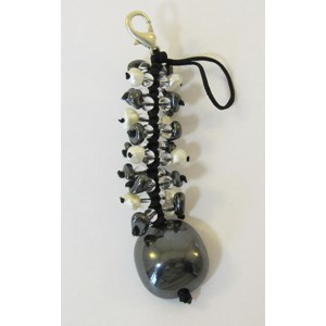 Haematite Catkin clip-on