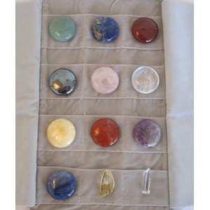 Chakra Set in Velvet Pouch, 12 pieces (small)