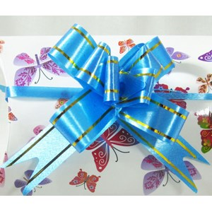 Blue & Gold Gift Bow