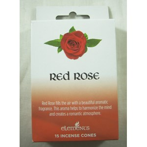 Red Rose Incense Cones