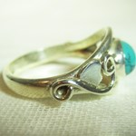 Turquoise Celtic Ring (Size N)