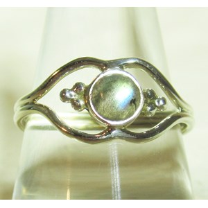Pretty Labradorite Ring (Size N)
