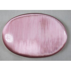 Pink Cats Eye Palm Stone