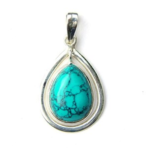 Turquoise Swinging Pendant (smallish)