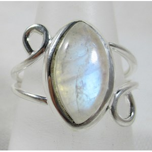 Rainbow Moonstone Ring (size S)