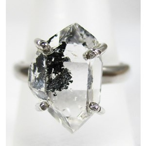 Herkimer Diamond Ring (Size N)