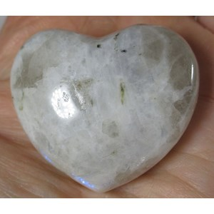 Rainbow Moonstone Heart