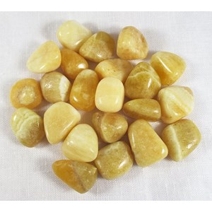 Yellow Calcite Tumble Stones (B Grade x3)