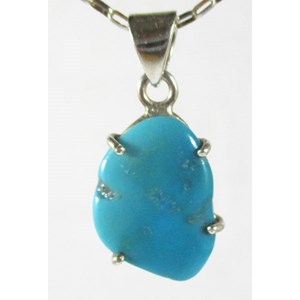 Sleeping Beauty Turquoise Pendant (Small)