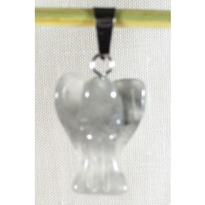 Grey Quartz Angel Pendant (Small) Reduced