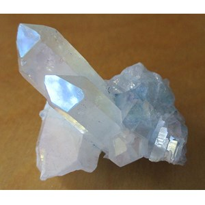 Aqua Aura Quartz Point (Small-ish)