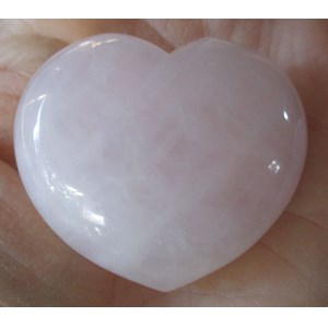 Pale Pink Rose Quartz Heart