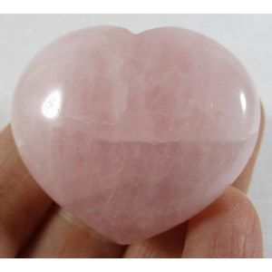 Rose Quartz Heart - B Grade (x 1) Reduced