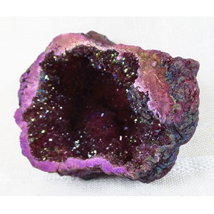 Maroon Aura Quartz Geode REDUCED