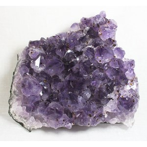 Amethyst Cluster with tiny Rutile Flowers