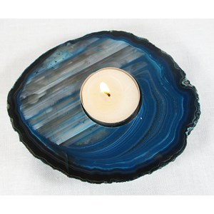 Turquoise Agate Tea Light Holder