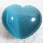 Turquoise Cats Eye Heart