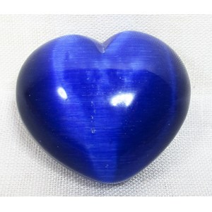 Midnight Blue Cats Eye Heart