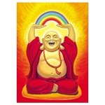 Laughing Buddha Greetings Card