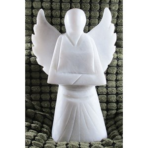 Grey-White Marble Power Angel X Large