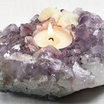 Pale Amethyst Tea Light Holder