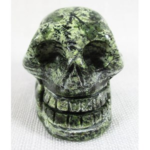 Green Zebra Jasper Skull (Small)