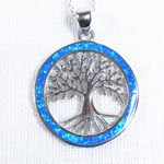 Blue Opal Tree Necklace