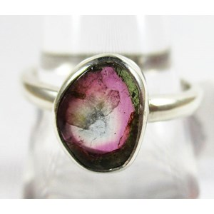 Watermelon Tourmaline Ring (Size N)