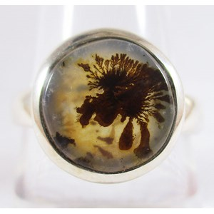 Dendritic Opal Ring (Size Q)