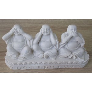 See, Hear and Speak No Evil Buddhas