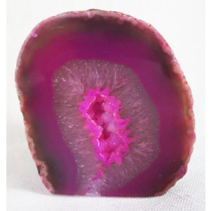 Pink Agate Standing Geode (Small)