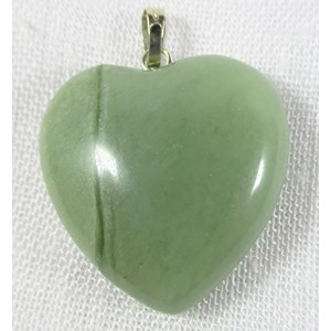 New Jade Heart Pendant (Small) REDUCED
