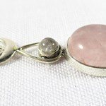 Rose Quartz Drop Pendant REDUCED