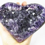 Amethyst Heart Polished Cluster