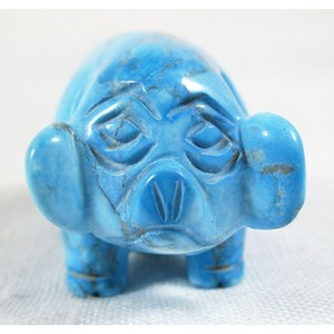 Turquoise Howlite Pig