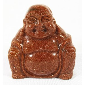 Red Goldstone Happiness Buddha