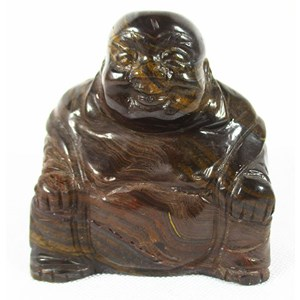 Tigers Eye Happiness Buddha