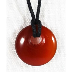 Carnelian Donut Necklace