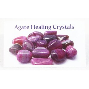 Agate Healing Crystals Properties Card
