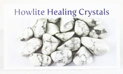 Howlite healing crystals properties card front