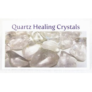 Quartz Healing Crystals Properties Card
